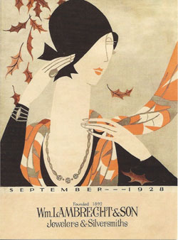 Lambrecht's Jewelers postcard