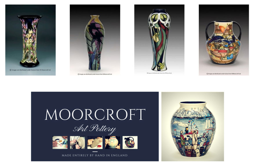 Moorcroft Pottery Banner